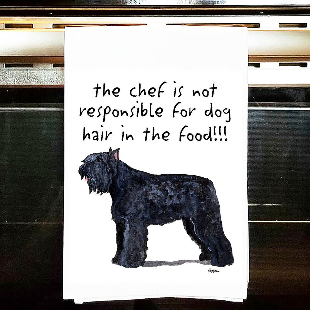 Bouvier des Flandres Kitchen Tea Towel