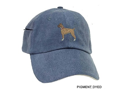 Boxer Natural Embrodiered Baseball Caps