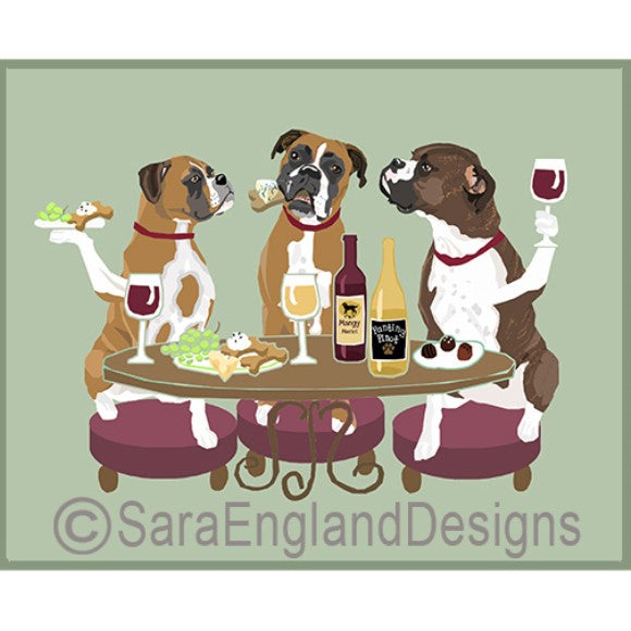 Boxer Natural 3 Dogs Prints