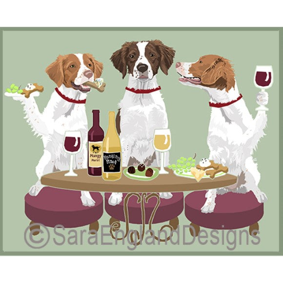 Brittany Spaniel 3 Dogs Prints