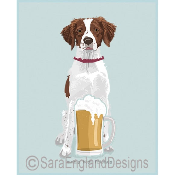 Brittany Spaniel Best Friends Prints