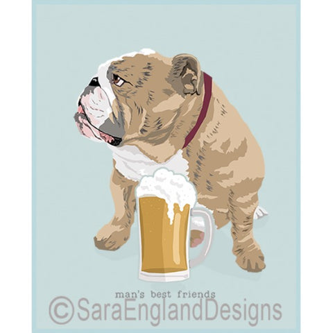 Bulldog Best Friends Prints