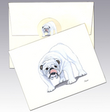 English Bulldog 8 Pack Notecards