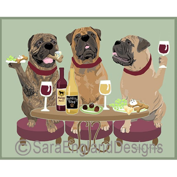 Bullmastiff 3 Dogs Prints
