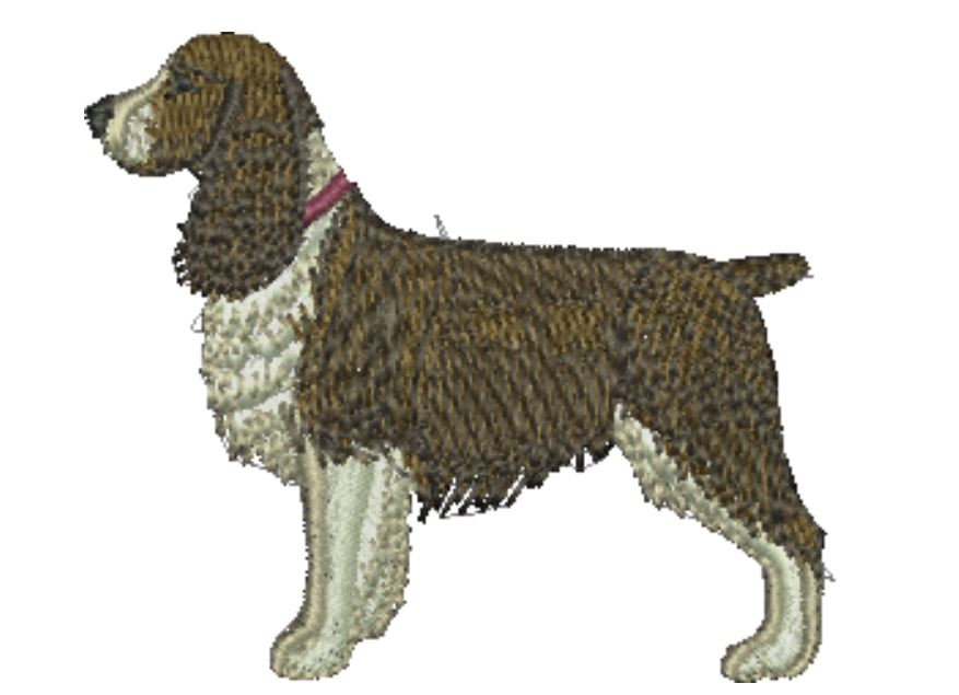 Springer Spaniel Liver and White Embroidered Baseball Caps