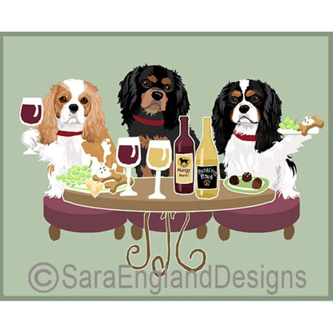 Cavalier King Charles Spaniel 3 Dogs Prints