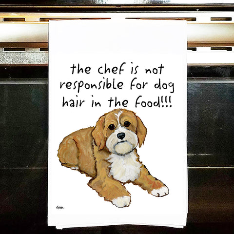 Cavapoo Kitchen Tea Towel