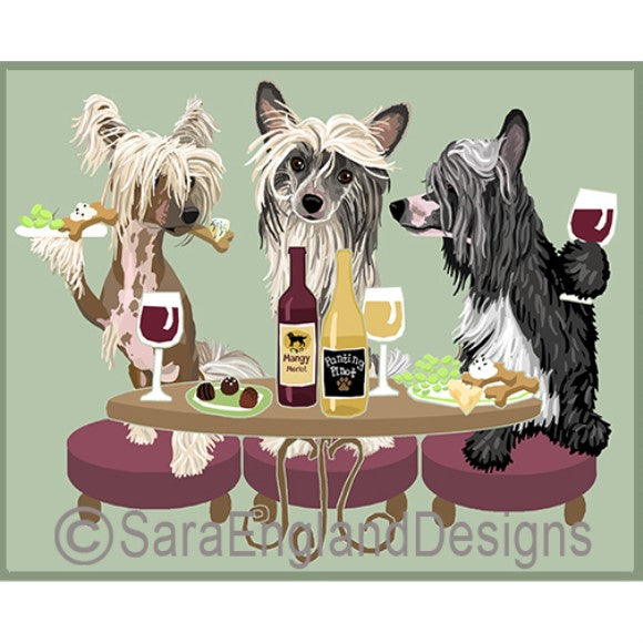 Chinese Crested 3 Dogs Prints
