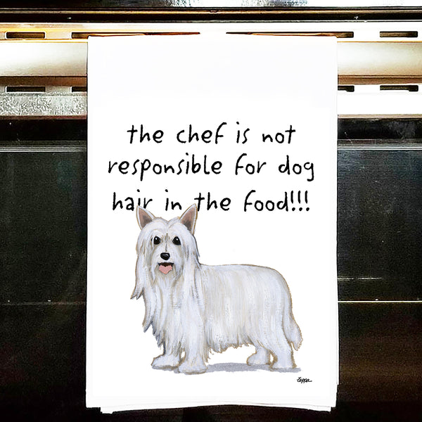 Chinese Crested Kitchen Tea Towel
