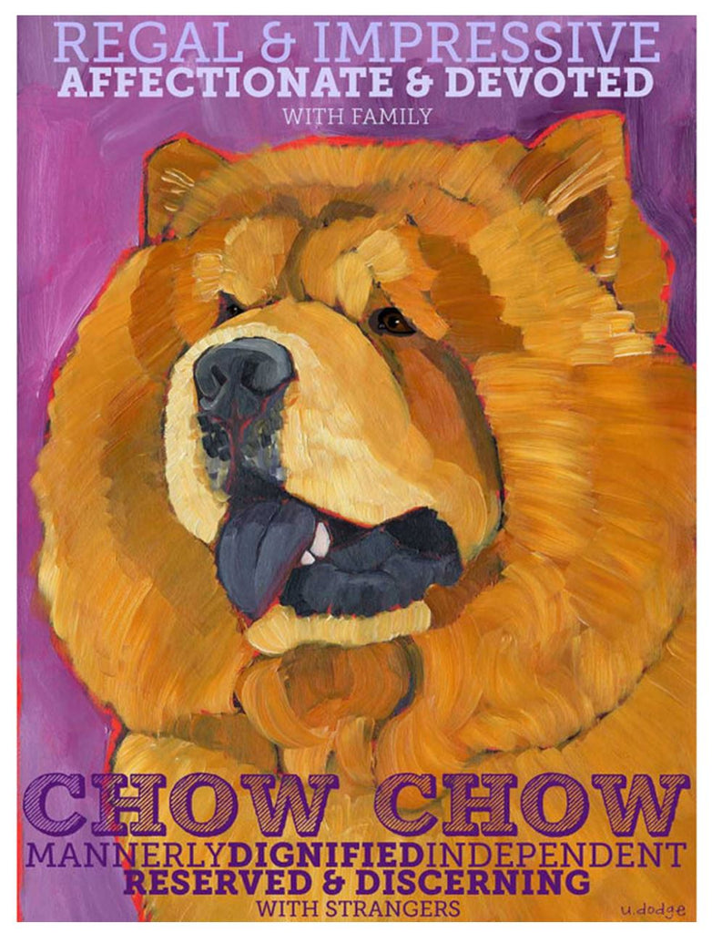 Chow Chow 3 x 4 Sticker