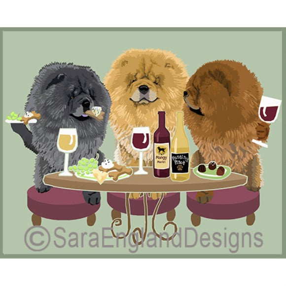 Chow Chow 3 Dogs Prints