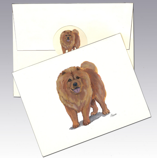 Chow 8 Pack Notecards