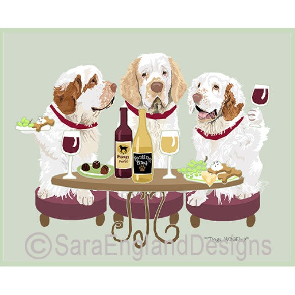 Clumber Spaniel 3 Dogs Prints