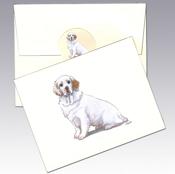 Clumber Spaniel 8 Pack Notecards