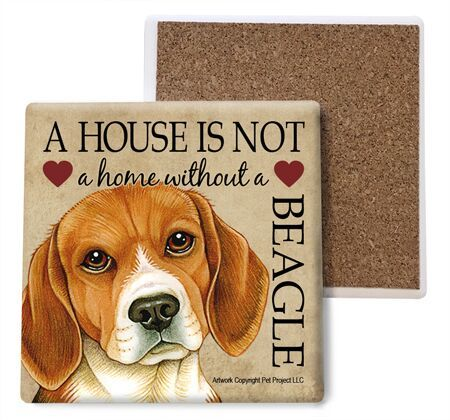 Beagle Absorbent Stone Coaster