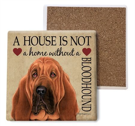 Bloodhound Absorbent Stone Coaster