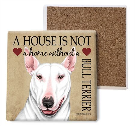 Bull Terrier (White color) Absorbent Stone Coaster