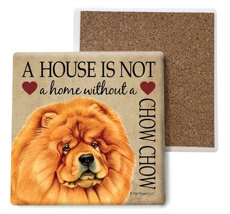 Chow chow Absorbent Stone Coaster