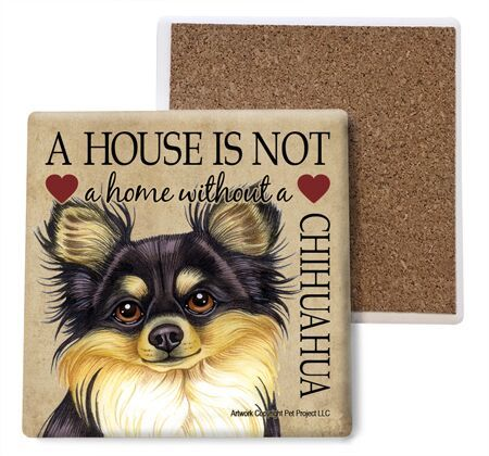 Chihuahua (black and tan) Absorbent Stone Coaster