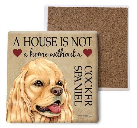 Cocker Spaniel (American, tan) Absorbent Stone Coaster