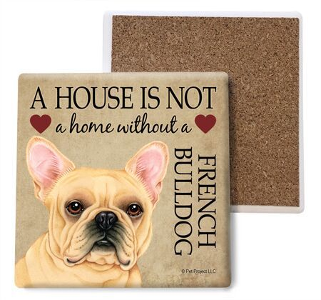 French Bulldog Absorbent Stone Coaster