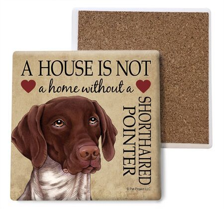 German Shorthaired Pointer Absorbent Stone Coaster