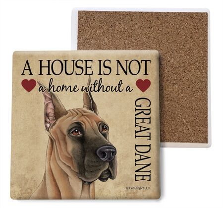 Great Dane Absorbent Stone Coaster