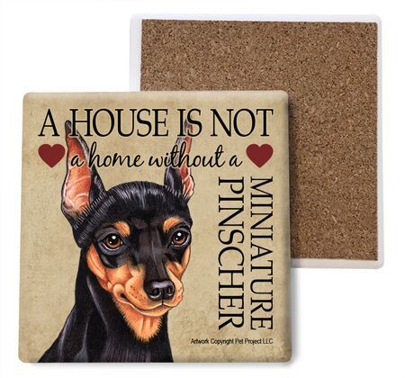 Miniature Pinscher Absorbent Stone Coaster