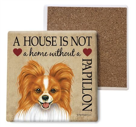 Papillon (Reddish-brown) Absorbent Stone Coaster