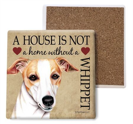 Whippet Absorbent Stone Coaster
