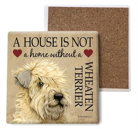 Wheaten Terrier Absorbent Stone Coaster