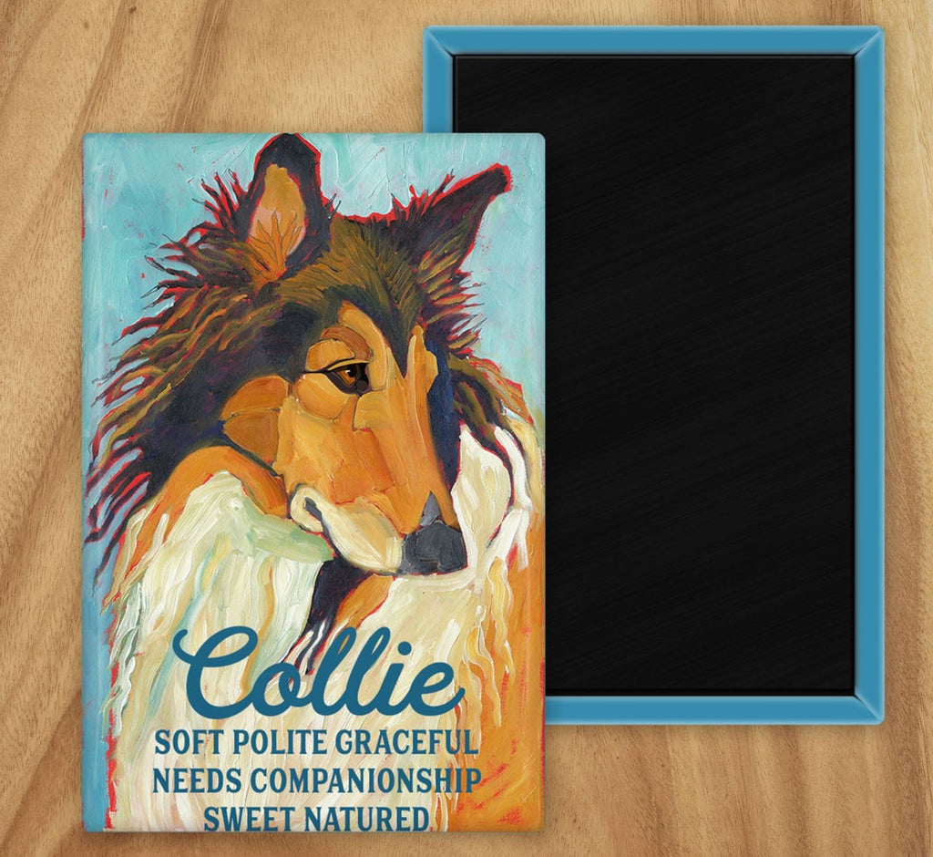 Collie 2 x 3 Fridge Magnet