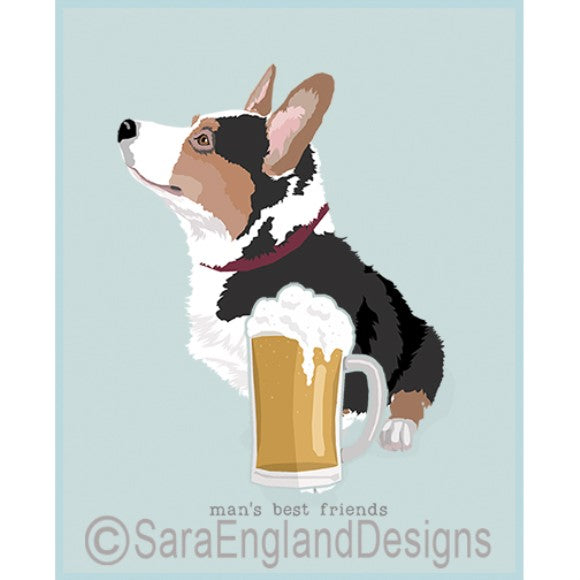 Corgi Cardigan Best Friends Prints