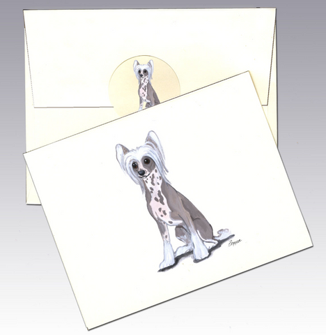 Chinese Crested 8 Pack Notecards