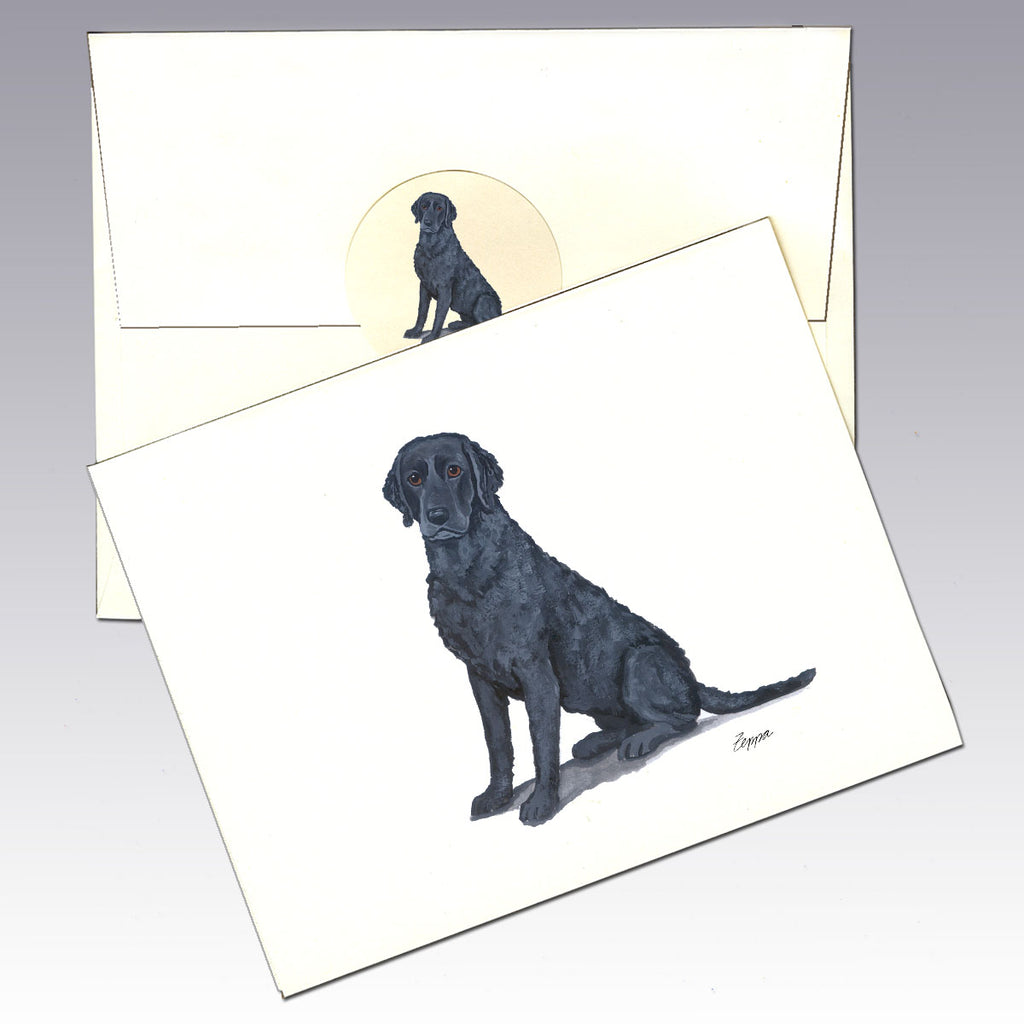 Curly-Coated Retriever 8 Pack Notecards