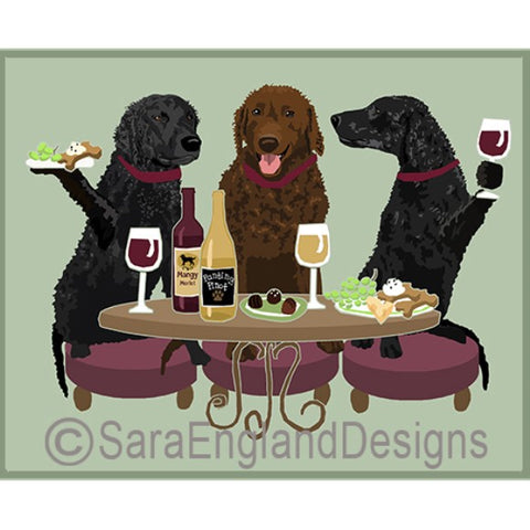 Curly Coated Retriver 3 Dogs Prints