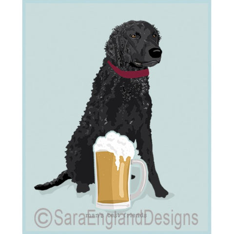 Curly Coated Retriver Best Friends Prints