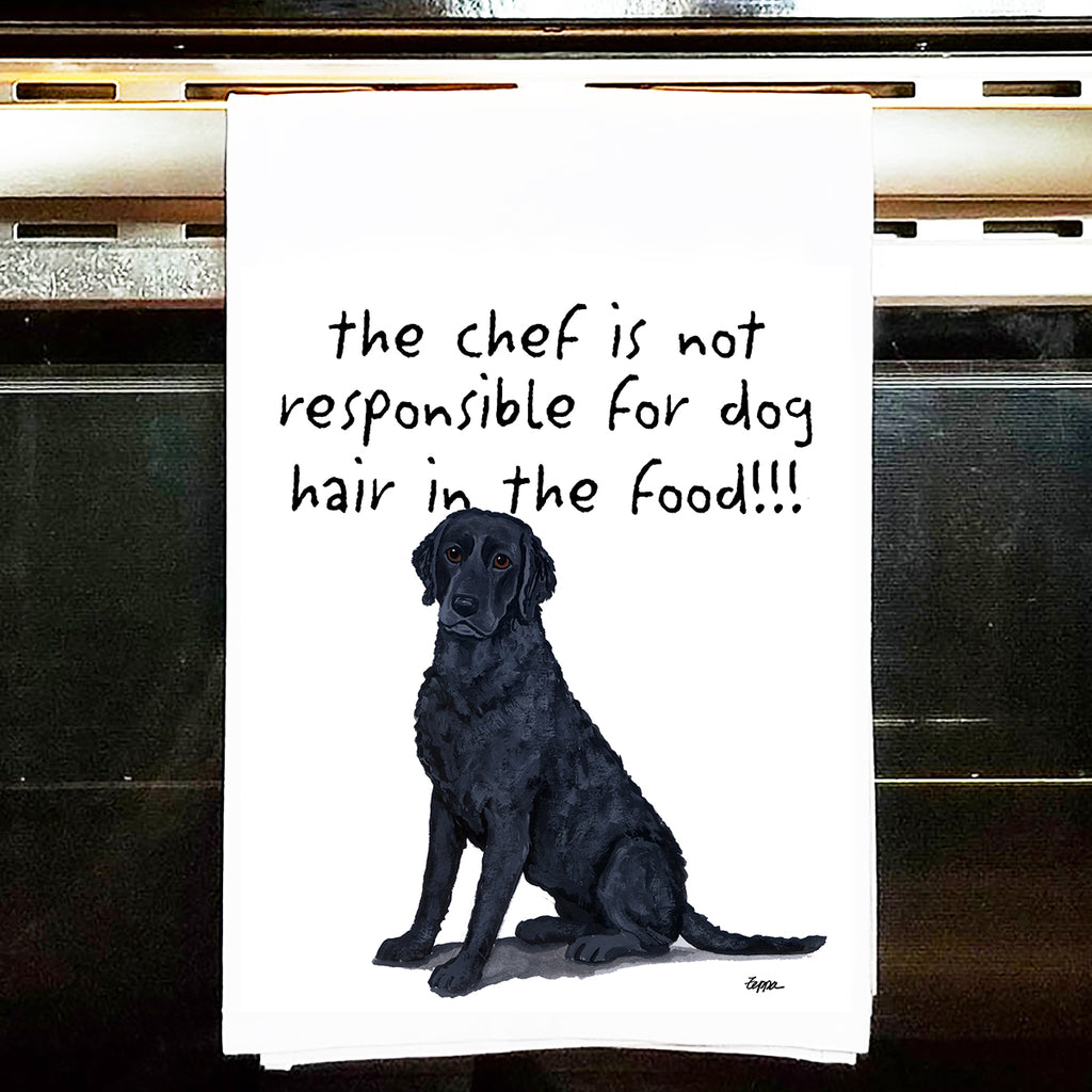 Curly-Coated Retriever Kitchen Tea Towel