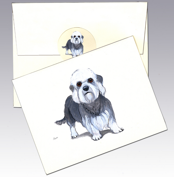 Dandi Dinmont Terrier 8 Pack Notecards