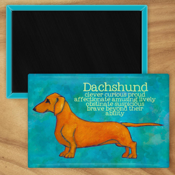Dachshund 2 x 3 Fridge Magnet