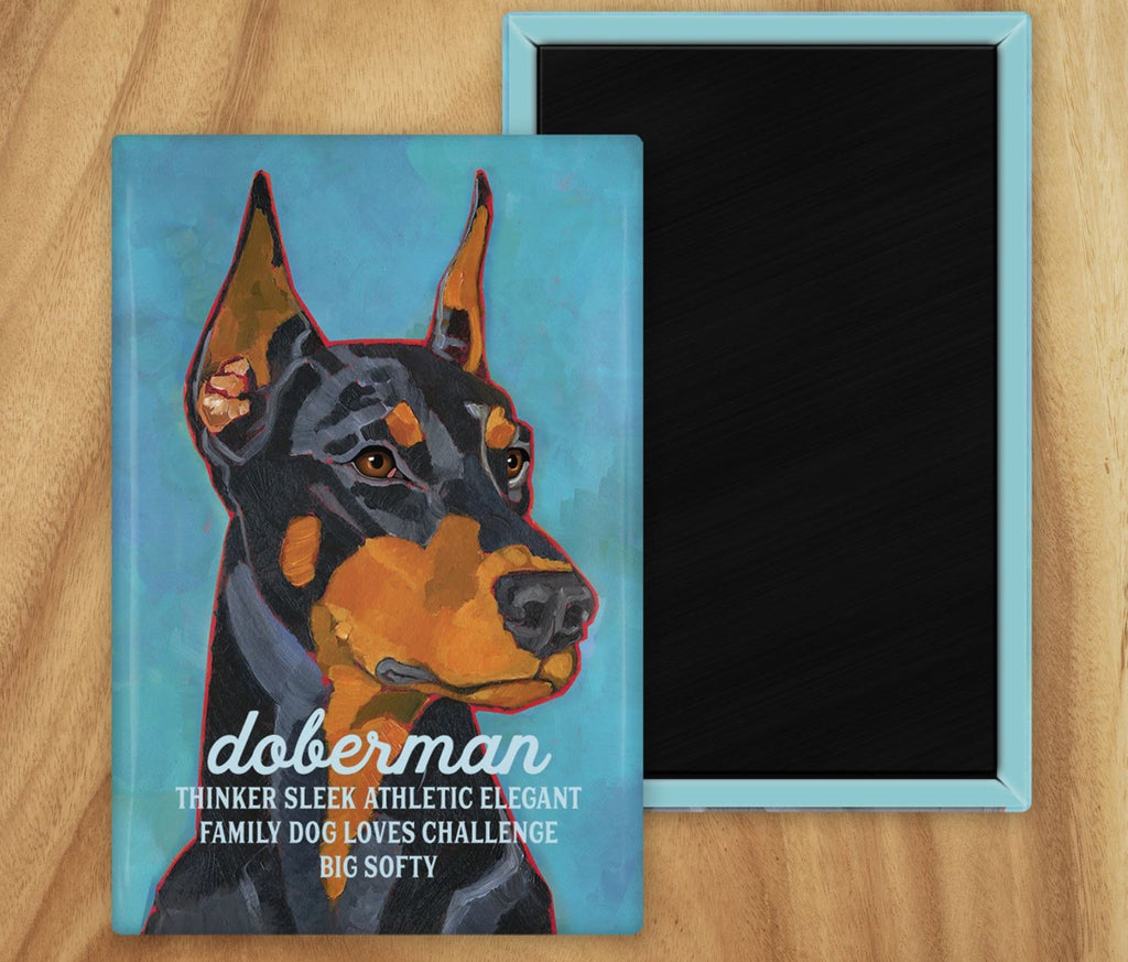 Doberman Pinscher 2 x 3 Fridge Magnet