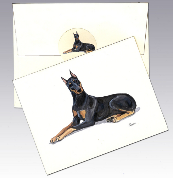 Doberman Pinscher 8 Pack Notecards