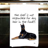Doberman Pinscher Kitchen Tea Towel