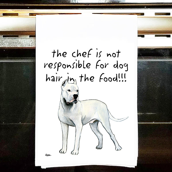 Dogo Argentino Kitchen Tea Towel