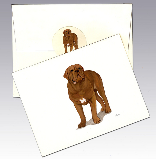 Dogue Du Bordeaux 8 Pack Notecards