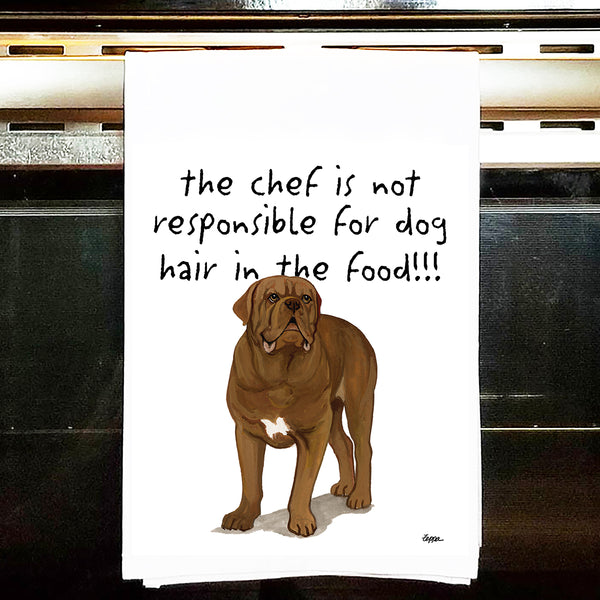 Dogue Du Bordeaux Kitchen Tea Towel