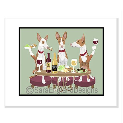 Ibizan Hound 3 Dogs Prints