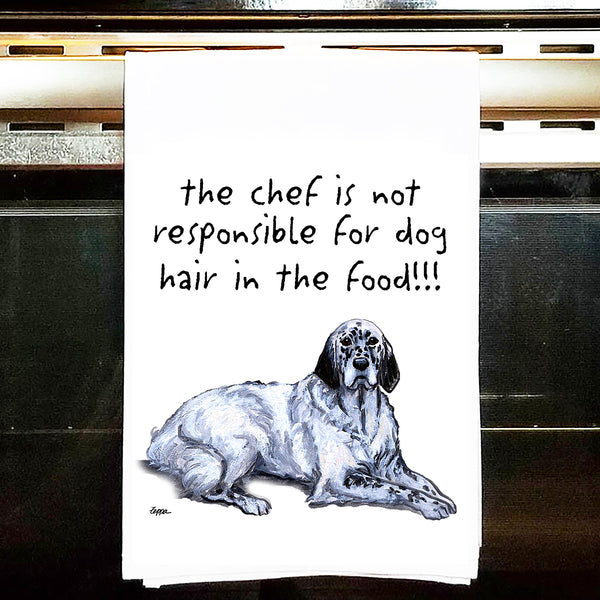 English Setter Kitchen Tea Towel