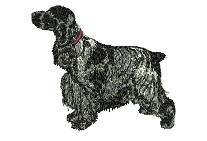 English Cocker Spaniel Embrodiered Baseball Caps