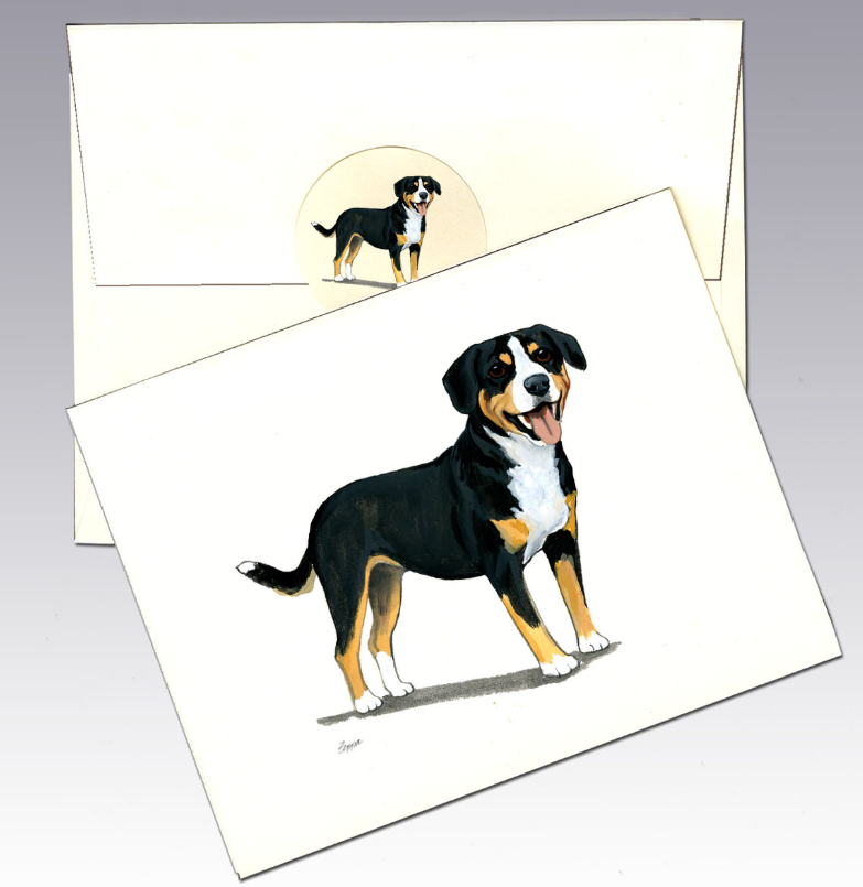 Entlebucher Mountain Dog 8 Pack Notecards